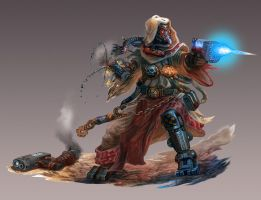 Tech Priest Gunfighter: Warhammer 40K-Dark Heresy by jubjubjedi
