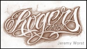 Rogers Script tattoo sketch by JeremyWorst
