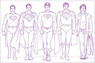 SUPERMAN TEAMUP PENCILS by TheComicFan