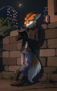 Commission: Anthroenthusiast (Night Writer) by Temiree