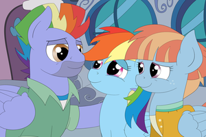 ~Rainbow with parents~ by Coramino