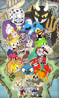 Cuphead All Characters by pluuck