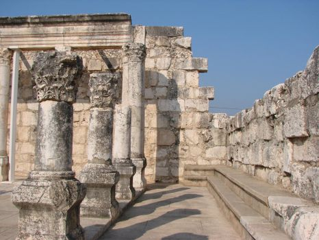 Synagogue at Capernaum by Irie-Stock