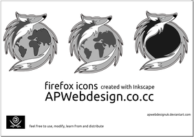 Firefox icons vector by APwebdesignUK