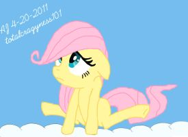 Fluttershy dreaming in the sky by totalcrazyness101