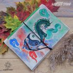 Eastern Dragon handmade journal by Dark-Lioncourt