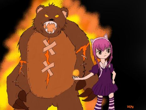 Annie and Tibbers by ZephyrPunk