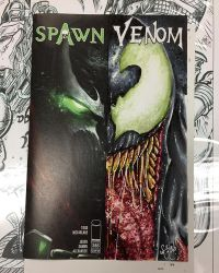 Spawn 285 Half Sketch Cover featuring Venom by ChrisMcJunkin
