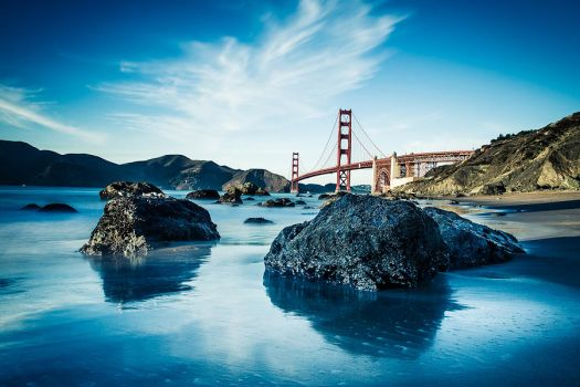 Golden Gate Bridge on a gorgeous fall day by LeMex
