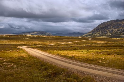 Zigzagging towards the mountains by aw-landscapes
