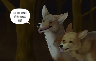 are you afraid of the forest? by Viiverrids
