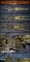 Eldritch Mechanical Sword (Gear driven Steampunk) by AetherAnvil