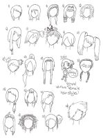 Simple Hairstyles by WandererAtHeart