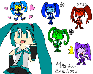 Miku and her Emotions by PokeGirlRULES