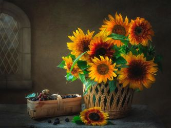 Still life with sunflowers by Daykiney