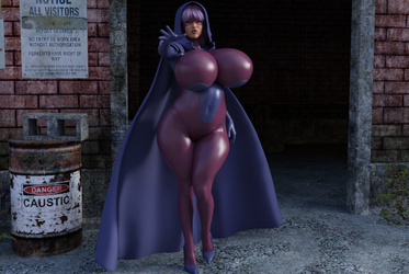 Psylocke cloak and hood Test 1 IRAY by Tazirai