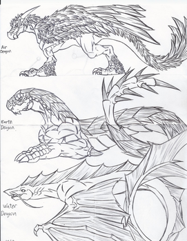 Dragon Concepts by Ra-HiME