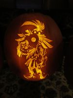 Skull Kid Pumpkin (2012) by DimSumDragon