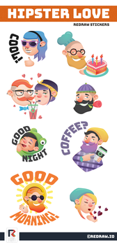Hipster stickers by InterGrapher