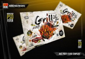 BBQ Party Flyer Template by AndyDreamm