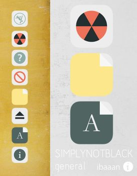 simplynotblack general icons by ibaaan