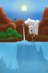 7 Days of RiME - Day One (Colored lineart) by ghosthippie