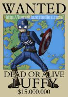 Luffy as Captain America by devillo