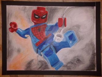 Lego Spiderman by QuirogaEtc