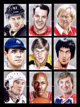 Sports sketchcards by whu-wei