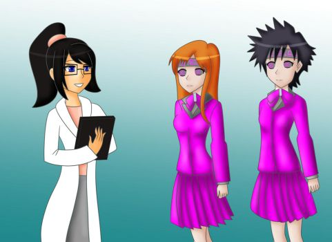 COM  Orihime and Tatsuki recolor by TigersSunshyn