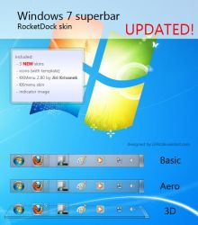 Windows 7 Superbar UPDATED by l24d