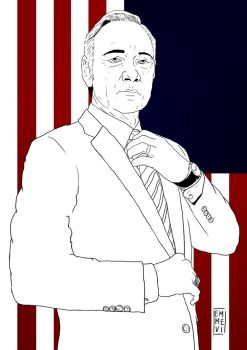 Frank Underwood (Kevin Spacey). by emmevi92