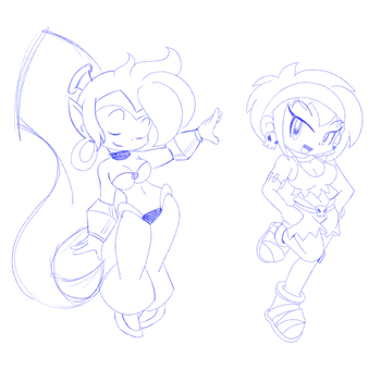 Shantae Sketches by CindersDesigns