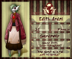 Circus Darkrai application - Edith Ardel by coyotepack