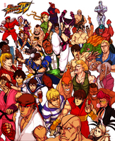 Street Fighter 4 Colored by Wu-zhi