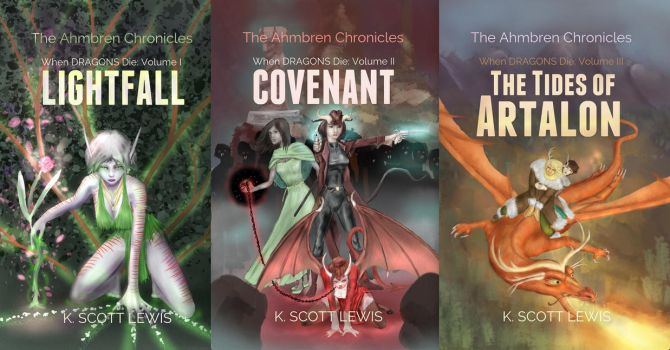 When Dragons Die: Book Covers by kscottlewis