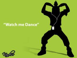 Shikamaru with an Ipod by Kandese