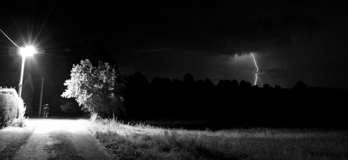 A man in a storm by tomsumartin