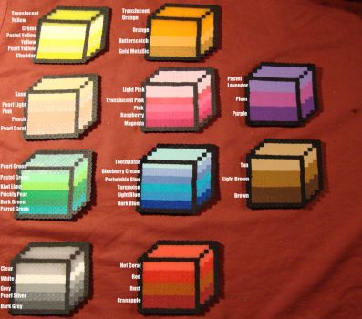 Perler Color Guide by Meltpixel