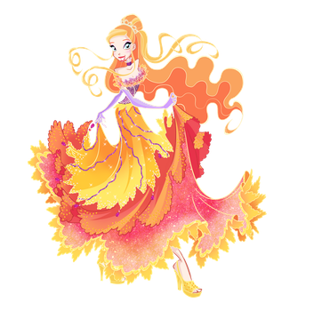 Maya ball dress PNG by LadyShalirin