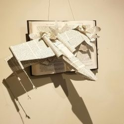 X-wing Hanging Book Sculpture by wetcanvas