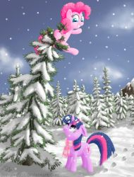 Twilight and Pinkie by Dracodile