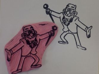 Gravity Falls: Grunkle Stan Rubber Stamp by Littel-Gerll