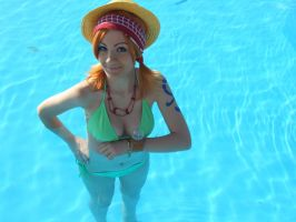 Nami,summer version, One Piece cosplay by Mellorineeee