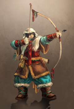 Mongolian Archer by MousyM