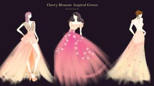 Fashion: Cherry Blossom Inspired Gowns by rinadon