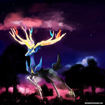Xerneas and Celebi by MeluuArts