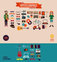 the Hipster Graphics collection by SloorpWorld
