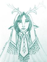 Faun Wedding Regalia Concept Sketch by EmilyCammisa