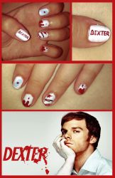 Dexter Morgan inspired nails by KariInlove